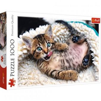 Пазл Trefl 1000 деталей Веселый котенок