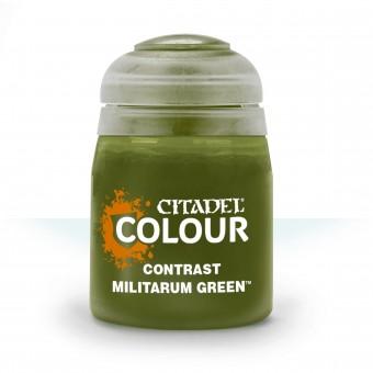 Баночка с краской Contrast: Militarum Green / Милитарум Зеленый (18 мл.)