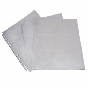 Лист для альбомов Blackfire (3х3 кармашка на листе) (прозрачный, боковая загрузка, односторонний)