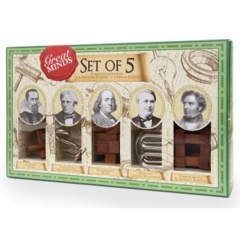 Набор из 5 головоломок Great Minds (Профессор Пазл)