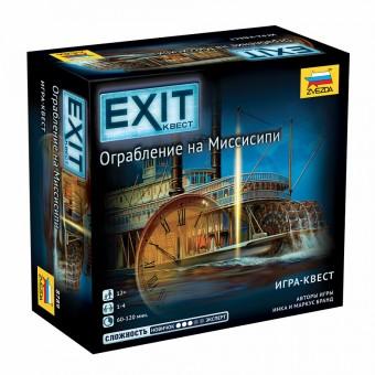 настольная игра Exit Квест. Ограбление на Миссисипи