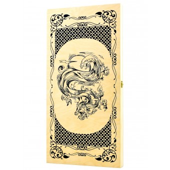 настольная игра Нарды Водный Дракон, большие (Россия, дерево, 60х30х4 см.)
