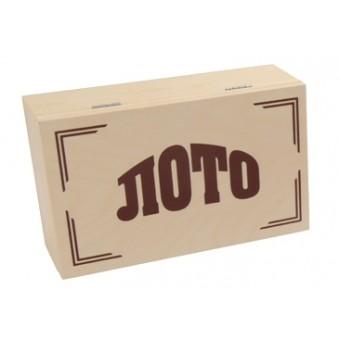настольная игра Русское Лото Классическое, в светлом деревянном боксе