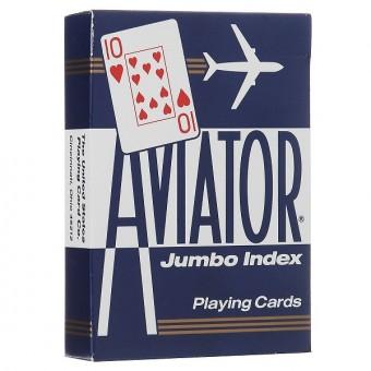 карты для покера Aviator. Покерный размер, большой индекс (синие)
