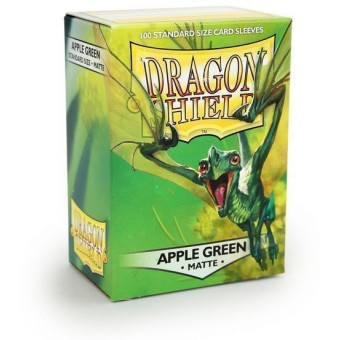Протекторы Dragon Shield (66 х 91 мм., 100 шт.): Apple Green / Яблочно-Зеленые матовые