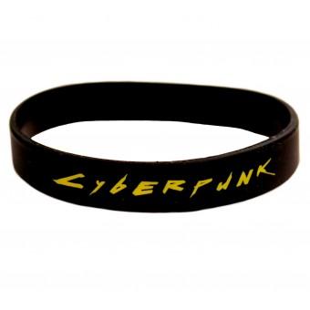 браслет силиконовый Киберпанк / Cyberpunk (чёрный)