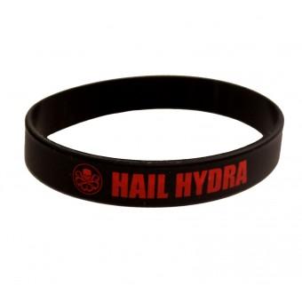 браслет силиконовый Мстители / Hail Hydra (чёрный)