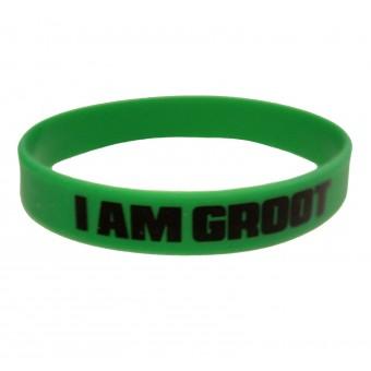 браслет силиконовый Стражи Галактики / I am Groot (зелёный)