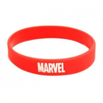 браслет силиконовый Марвел / Marvel (красный)