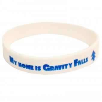 браслет силиконовый Гравити Фолз / My home is Gravity Falls (белый)