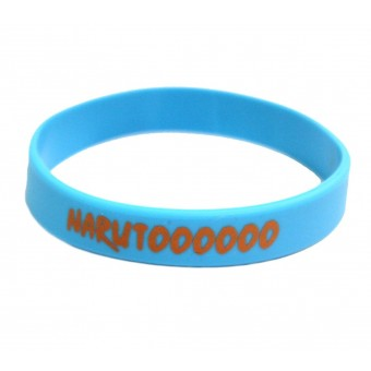 браслет силиконовый Наруто / Narutoooooo (голубой)