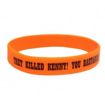 браслет силиконовый Южный Парк / They killed Kenny! You Bastards (оранжевый)