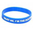 браслет силиконовый Trust Me, I'm a Doctor (синий)