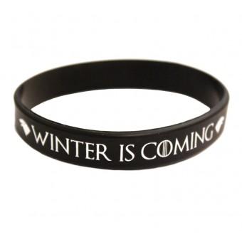 браслет силиконовый Игра Престолов / Winter is coming (чёрный)
