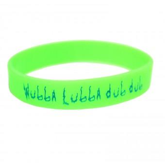 браслет силиконовый Рик и Морти / Wubba Lubba Dub Dub (зелёный)