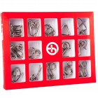 Набор из 15 металлических головоломок
