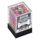 Набор из 36 кубиков для D&D Stuff Pro. Фиолетовые с золотом (Мраморные)