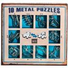 Набор из 10 металлических головоломок (Синий) / Metal Puzzles blue set
