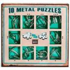 Набор из 10 металлических головоломок (Зеленый) / Metal Puzzles green set