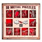 Набор из 10 металлических головоломок (Красный) / Metal Puzzles red set