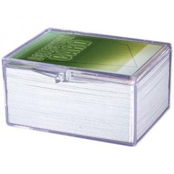 Коробочка Ultra-Pro Прозрачная для хранения карт (пластиковая, на 100 карт)