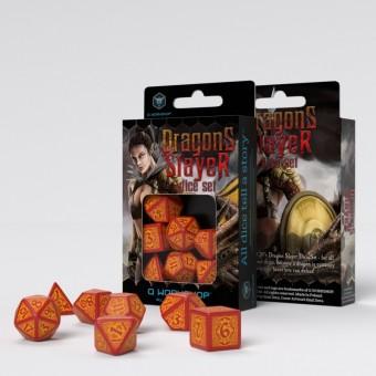 Набор из 7 кубиков Драконьи / Dragons Slayer Dice (красно-оранжевые)