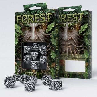 Набор из 7 кубиков Лесные / Forest Dice (бело-черные)