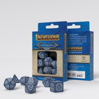 Набор из 7 кубиков Pathfinder Hell's Rebels (сине-белые)