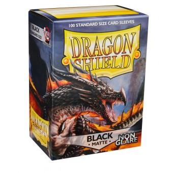Протекторы Dragon Shield (66 х 91 мм., 100 шт.): Black NonGlare / Черные матовые (без бликов)