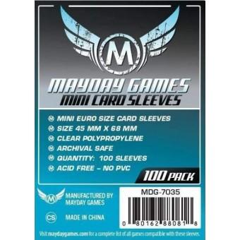 Протекторы MayDay: Прозрачные (Mini Euro Size, 45 х 68 мм., 100 шт.)