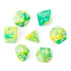 Набор из 7 кубиков для D&D PandaSale: Зелено-Желтый
