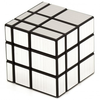 Головоломка Зеркальный Кубик 3x3 Серебряный YuXin Ice Qilin Mirror Blocks
