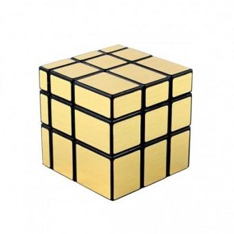 Головоломка Зеркальный Кубик Рубика 3x3 Золотой Shengshou Mirror