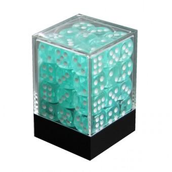Набор кубиков из 36 штук D6 Прозрачный Бирюзовый