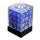 Набор кубиков из 36 штук D6 Прозрачный Тёмно-синий