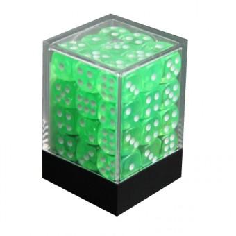 Набор кубиков из 36 штук D6 Прозрачный Зеленый