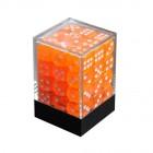 Набор кубиков из 36 штук D6 Прозрачный Оранжевый
