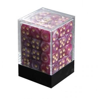 Набор кубиков из 36 штук D6 Мраморный фиолетовый