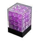 Набор кубиков из 36 штук D6 Прозрачный сиреневый
