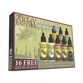 Набор Металлических красок для покраски миниатюр Army Painter / Warpaints Metallic Paint Set