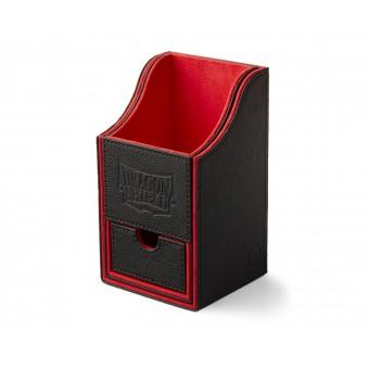 Коробочка Dragon Shield Nest+ на 100+ карт с отделением для кубиков (Black / Red)