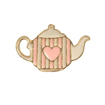 пин Чайник розово-белый
