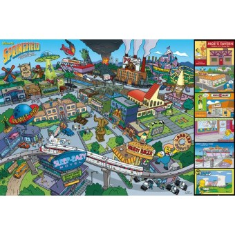 Постер The Simpsons. Springfield. (А1, 60 см. x 84 см.)