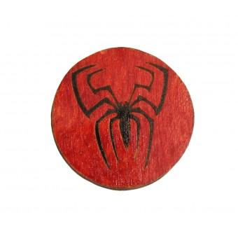 Значок деревянный Человек Паук