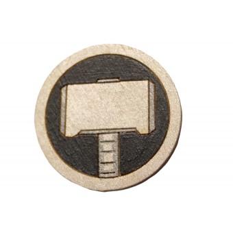 Значок деревянный Тор