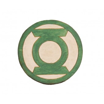 Значок деревянный Зеленый Фонарь