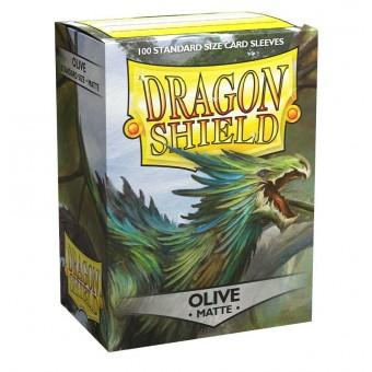 Протекторы Dragon Shield (66 х 91 мм., 100 шт.): Olive / Оливковые матовые