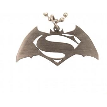 кулон металлический Бэтмен / Супермен