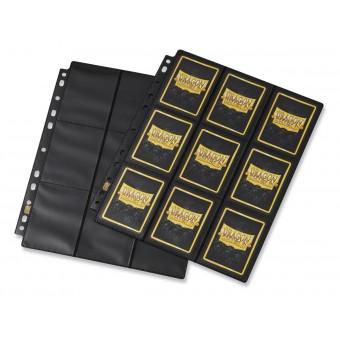 Лист для альбомов Dragon Shield Черный. Без бликов. (3х3 кармашка на листе)