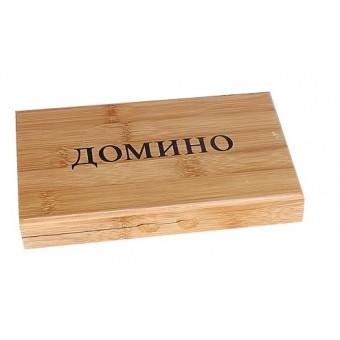 настольная игра Домино в деревянной коробке